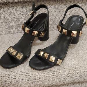 BOGO FREE! Black heels with gold studs